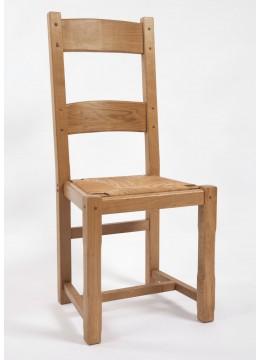 chaise 2 barres en ch ne la chaise artisanale. Black Bedroom Furniture Sets. Home Design Ideas
