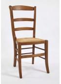 Chaise haut dossier ceinturée (avec nœuds)