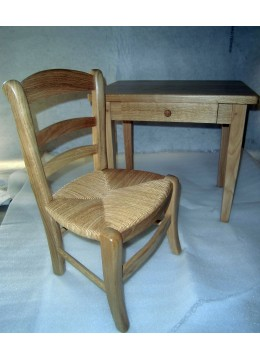 Bureau et chaise enfant en chène
