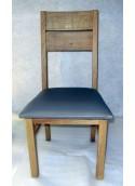 Chaise moderne 2 barres simili en chêne