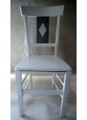 Chaise Directoire losange hêtre peint