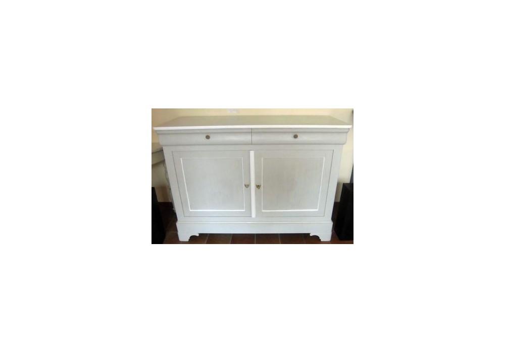 meuble 2 portes louis philippe peint la chaise artisanale. Black Bedroom Furniture Sets. Home Design Ideas
