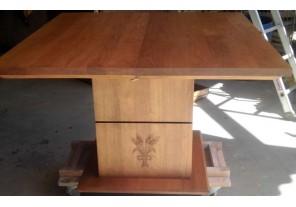 Table quadripode 2 allonges en merisier