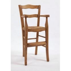 Fauteuil haut de table en hêtre ou frène