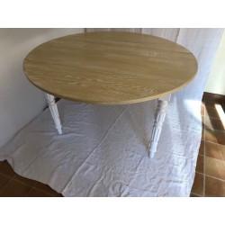 Ancien meuble de téléphone chêne peint