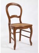 Chaise de salle ronde cannée