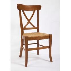 Chaise de salle Directoire à croisillons