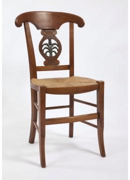 """Chaise de salle Directoire palmette sculptée """"chardon"""""""