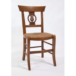 """Chaise de salle Directoire palmette sculptée """"lyre"""""""
