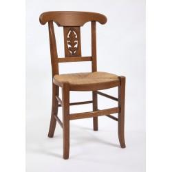"""Chaise de salle Directoire palmette sculptée """"gland de chêne"""""""