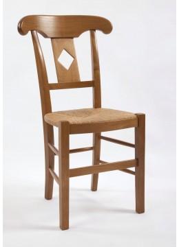 Chaise de salle Directoire palmette losange