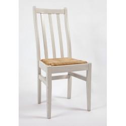 Chaise 3 barres verticales paillée