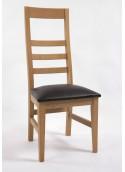 Chaise 3 barres horizontales capitonnage noir