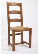 Chaise 3 barres haut dossier
