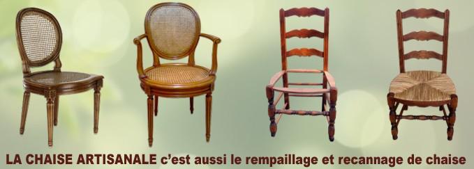 rempaillage et recannage de chaise